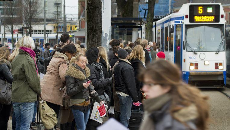 Tramlijn 5 op Amsterdam CS. Beeld ANP