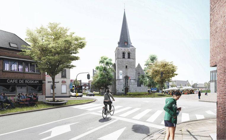 Zo zal het Kerkplein eruit zien.