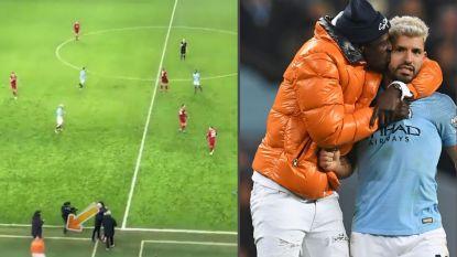 Wat u niet zag na de Engelse kraker: geblesseerde verdediger van Manchester City wordt na laatste fluitsignaal achternagezeten door stewards