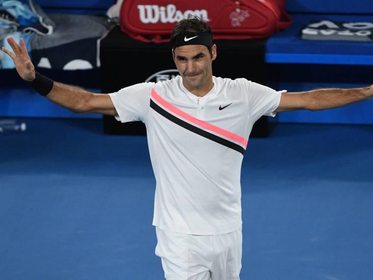 Federer zonder centje pijn naar volgende ronde