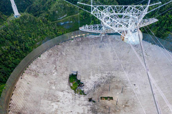 Le télescope d'Arecibo, le 19 novembre dernier.
