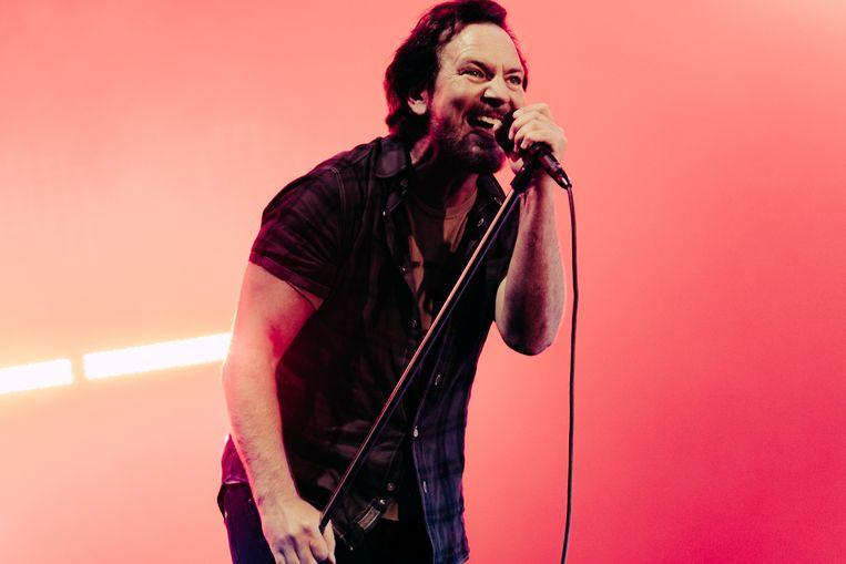 Pearl Jam op Pinkpop. Beeld Illias Teirlinck