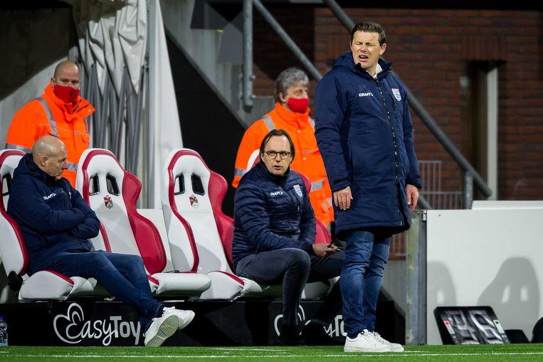 John Stegeman tijdens de wedstrijd tegen FC Emmen. Beeld ANP
