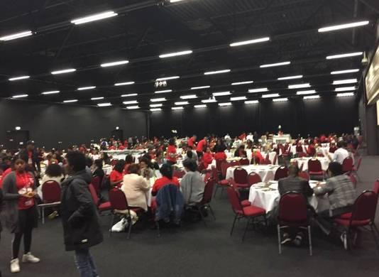 Beelden van de Eritrese conferentie in Veldhoven.