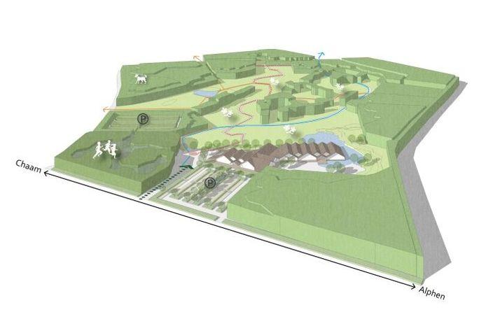 Weidebad Alphen-Chaam Tekening Atelier2 architecten