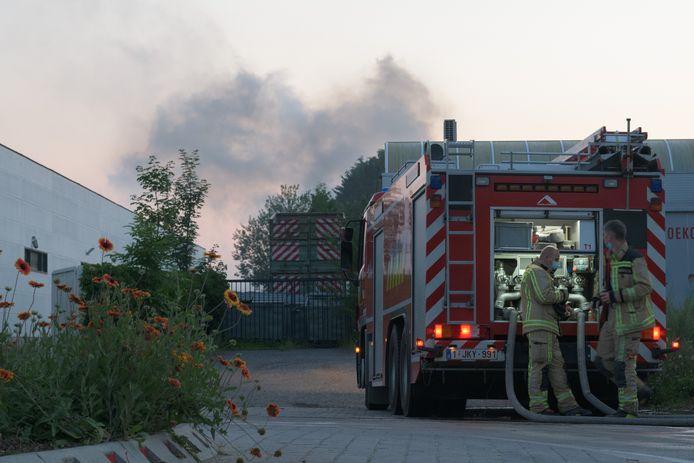 Industriebrand bij afvalverwerkingsbedrijf Remondis-De Vocht.
