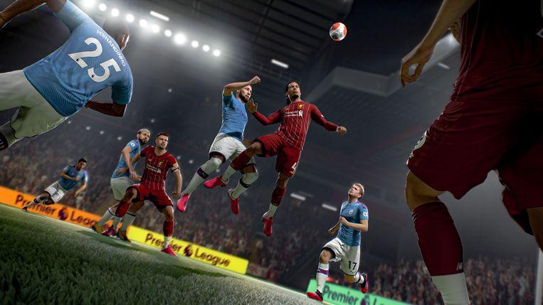 Beeld uit voetbalgame Fifa 21. Beeld EA