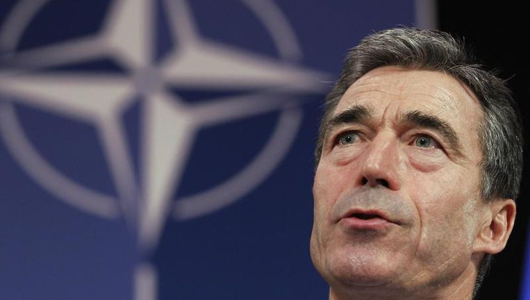 Secretaris-generaal Anders Fogh Rasmussen van de NAVO. Beeld reuters