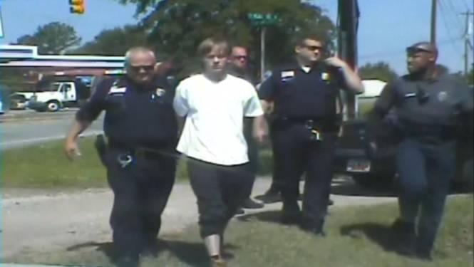 Politie geeft beelden vrij van arrestatie racist die negen mensen doodschoot in VS