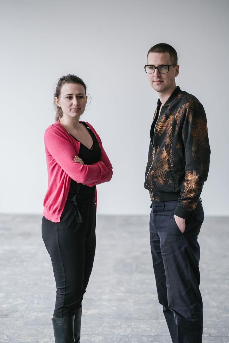 Maud Vanhauwaert en Maarten Inghels. Beeld Wouter Van Vooren