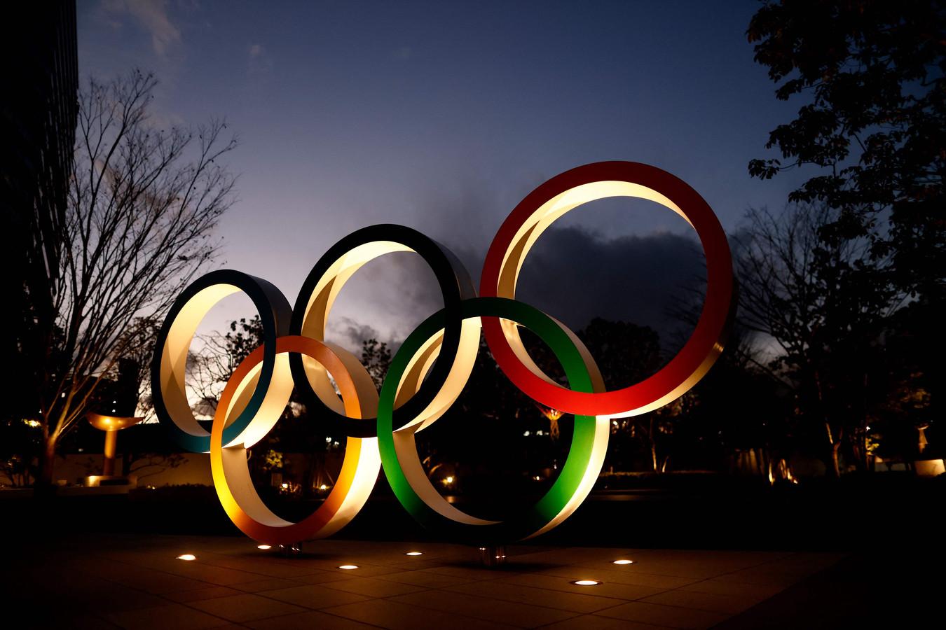 De ringen van de Olympische Spelen.