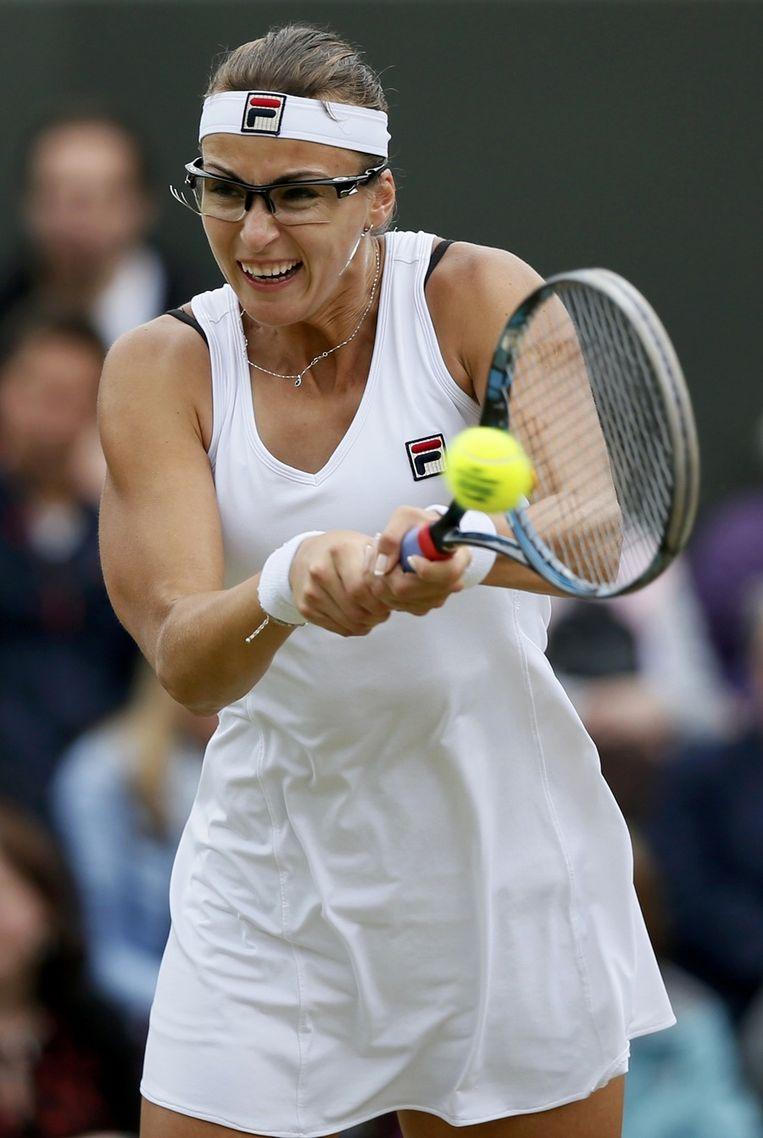 Shvedova vocht knap terug tegen Serena Williams. Beeld REUTERS