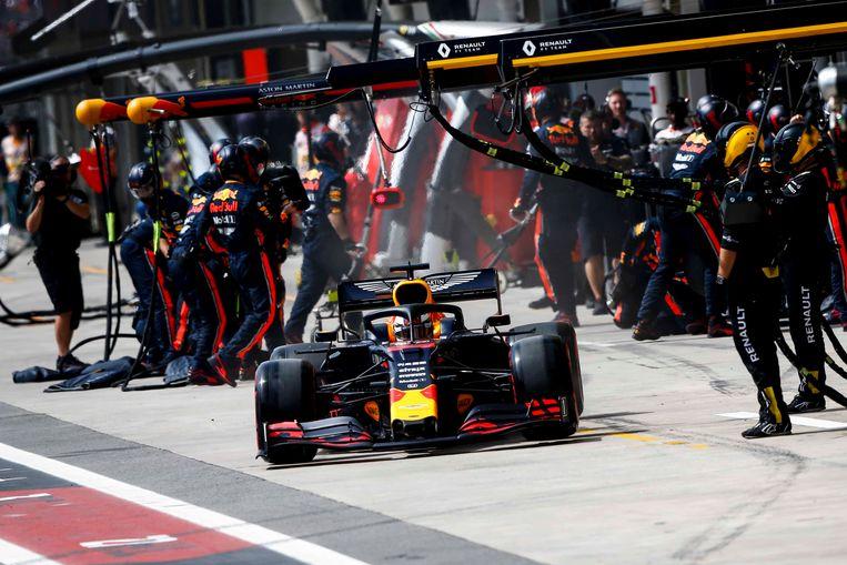 Max Verstappen realiseerde de snelste pits ooit.