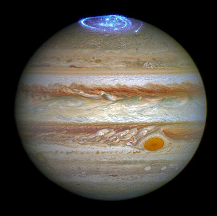 Poollicht op Jupiter