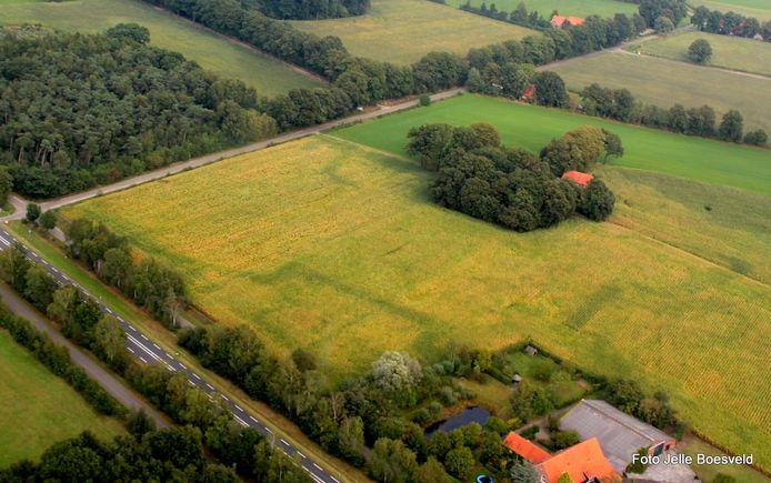 De Franse Schans wordt zichtbaar door gekleurde maïs.