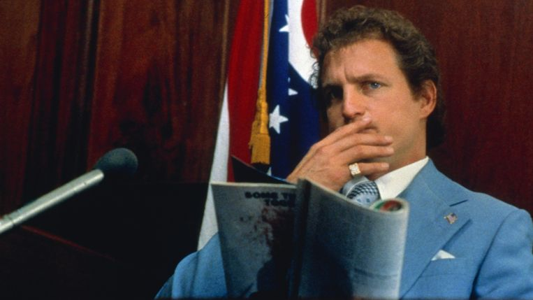 Woody Harrelson in de rol van Larry Flynt in de film The People vs. Larry Flynt (1996). Beeld