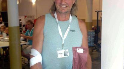 Luc beloond door Rode Kruis Ravels voor 100ste bloedgift