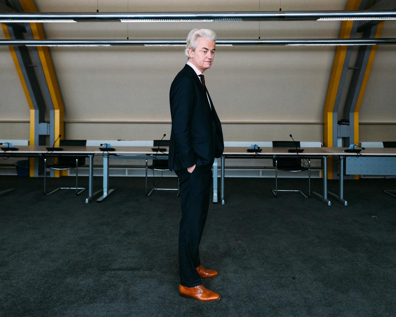 Geert Wilders: 'Ik heb altijd genoten van dat onder de mensen komen en handen schudden.' Beeld Rebecca Fertinel