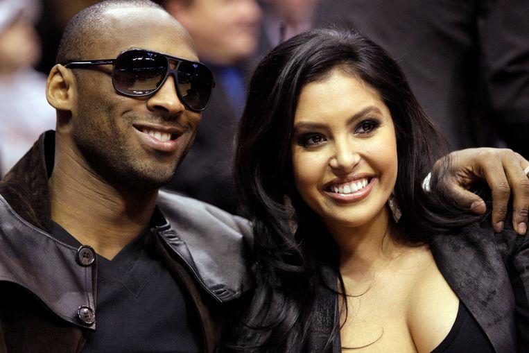 Kobe Bryant en zijn vrouw Vanessa. Beeld AP