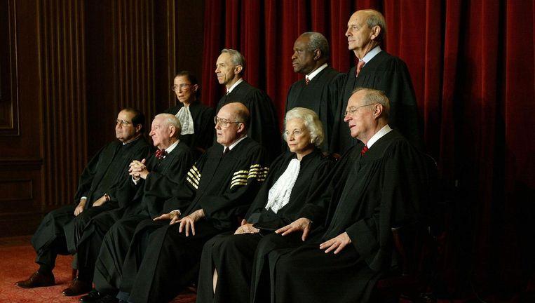 Het Amerikaanse Hooggerechtshof in 2005. Beeld Getty