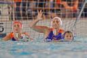 In actie met Oranje tijdens de World League in Nijverdal tegen Italië.