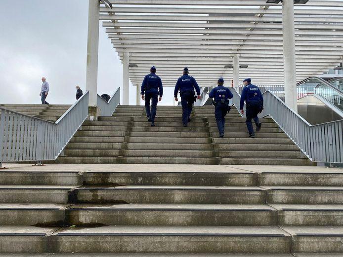 Extra patrouilles in Brugge.