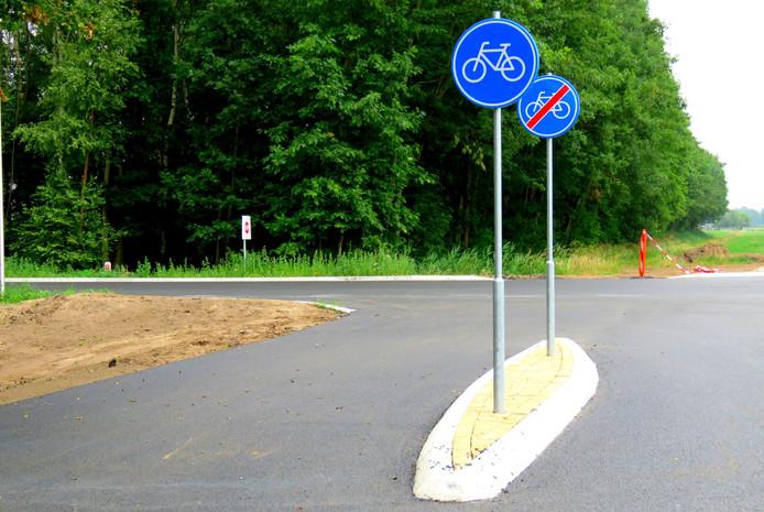 Bizar kort fietspad in Haaksbergen alweer opgeheven