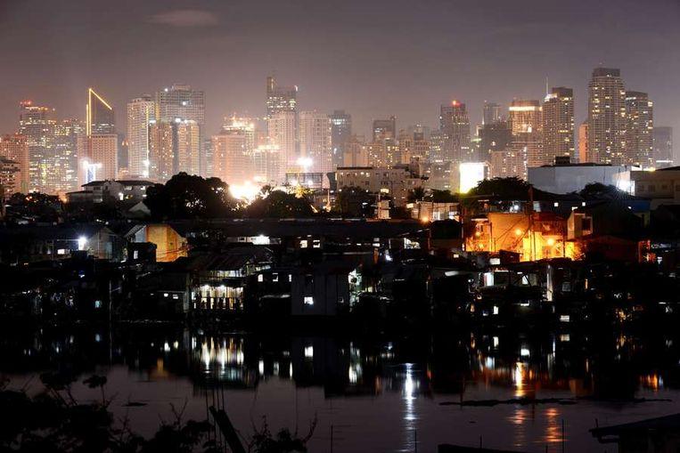 Het financiële district van de Filipijnse hoofdstad Manilla. Beeld afp