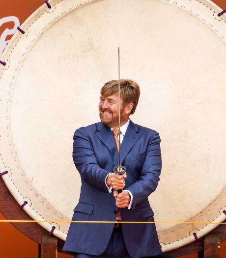Koning Willem-Alexander opent Olympic Festival op het strand van Scheveningen