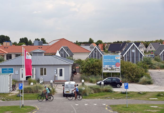 Beach Resort Nieuwvliet-Bad. Drukte aan de kust.