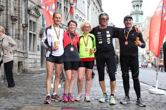 Jan Gevers liep ook de marathon van Brussel naar Bergen.