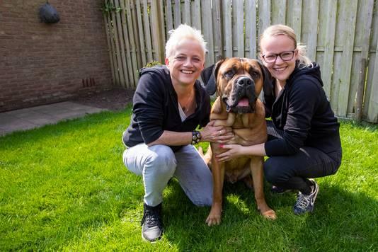 Suzanne de Wit en Lindie Gijsen uit Nuenen met cane corso Harrie.
