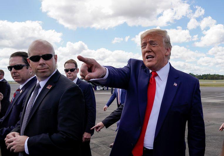 President Trump onlangs tijdens een bezoek aan Florida.  Beeld REUTERS