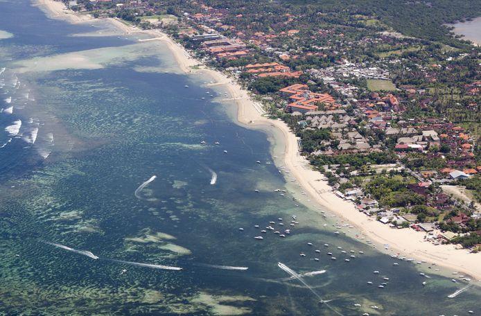 Luchtfoto Bali ter illustratie.