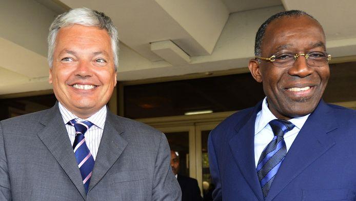 Didier Reynders et le ministre congolais des Affaires étrangères Augustin Matata Ponyo Mapon