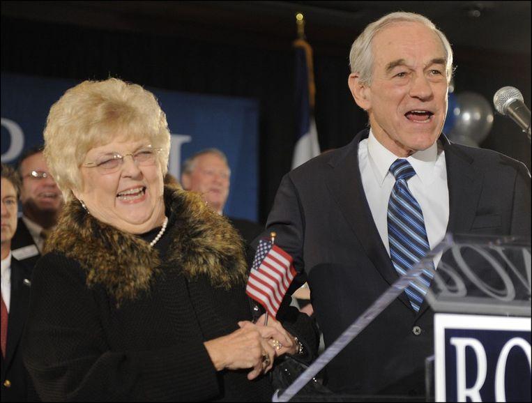 Ron Paul en zijn echtgenote Carol Beeld PHOTO_NEWS