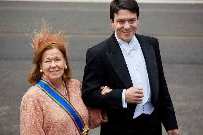 Prinses Christina met haar zoon Bernardo.