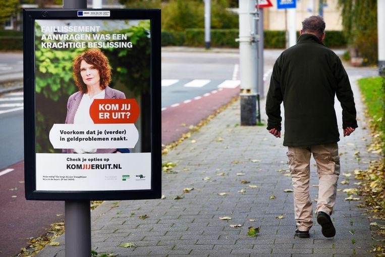 Campagne van Schuldhulp Rotterdam om ook ondernemers aan te spreken. Beeld ANP HH, Peter Hilz
