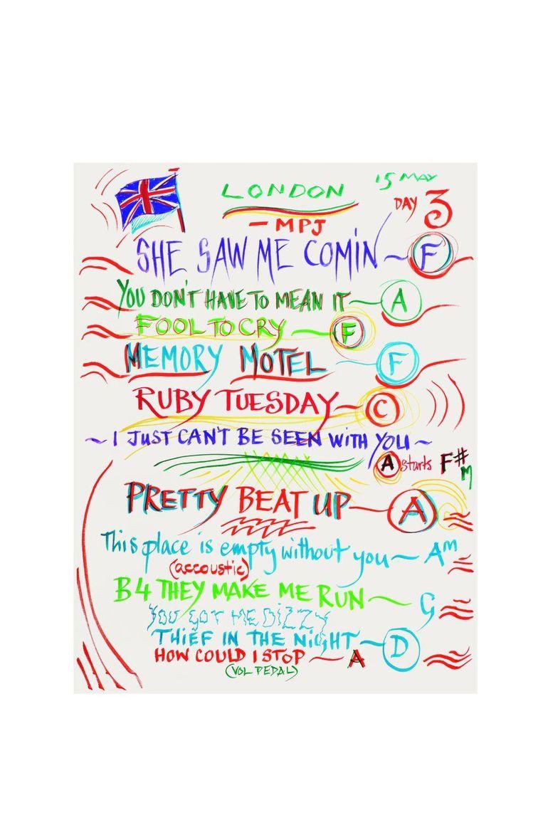Rolling Stones-setlist Londen Beeld Rolling Stones