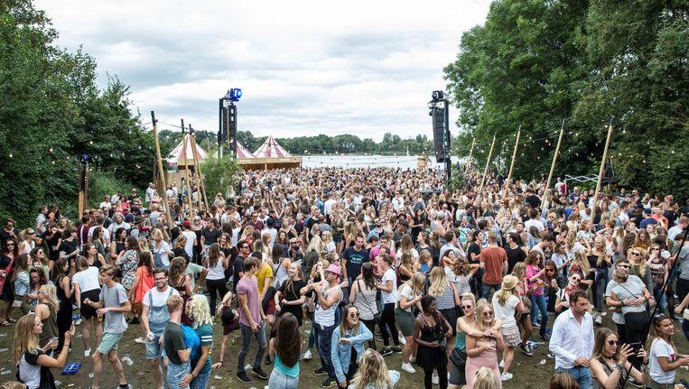 Festival Guilty Pleasure aan de Gaasperplas, vorig jaar augustus. Beeld Dingena Mol