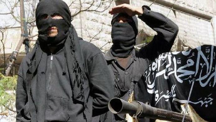Archieffoto van Al-Qaeda strijders in Syrië