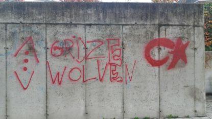 Sint-Elisabethwijk slachtoffer van vandalisme door graffiti met opschrift 'Grijze Wolven'