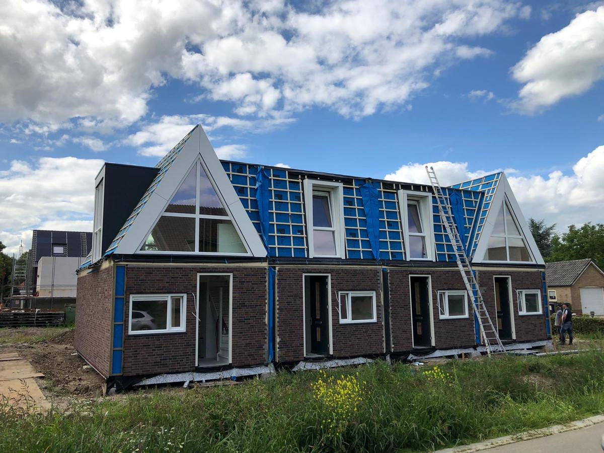 De nieuwe woningen-in-1-dag in Alphen.