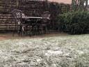 De eerste sneeuw levert mooie plaatjes op.