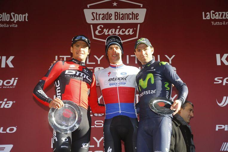 Titelverdediger is de Tsjech Zdenek Stybar. Hij klopte vorig seizoen Greg Van Avermaet en Alejandro Valverde Beeld Photo News