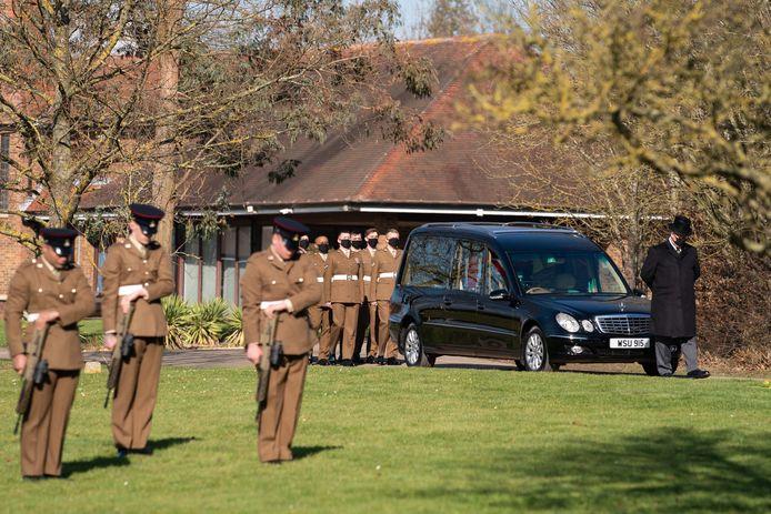 Erewacht op de begrafenis van Captain Tom op zaterdagmorgen 27 februari 2021
