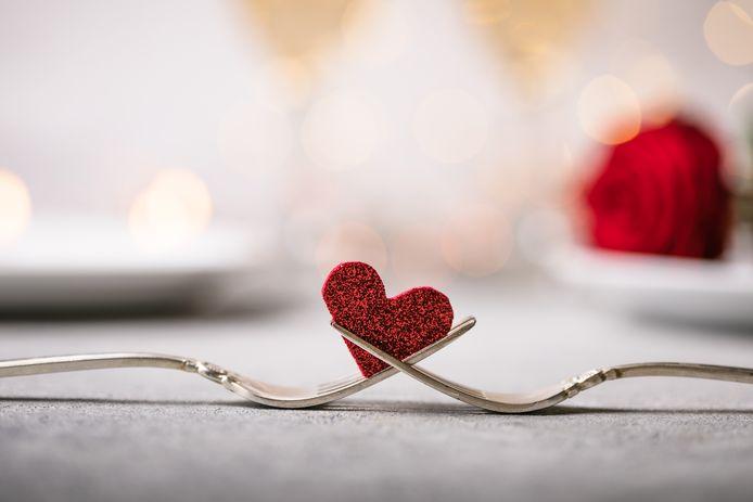 Valentijnsdinertje: daar hoort een mooi aangeklede tafel bij.
