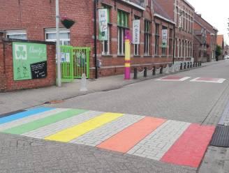 """Regenboogzebrapaden verschijnen in alle Netelandgemeenten: """"Iedereen is welkom, liefde kent geen labels"""""""