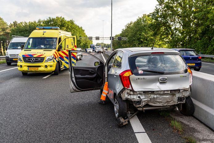 Ongeval op de A27 bij Oosterhout
