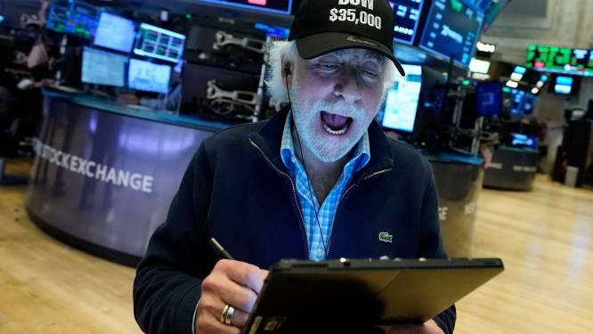 Dow-Jones voor het eerst boven de 35.000 punten